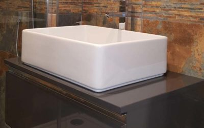 Free standing Sink and Drawers with walk in shower